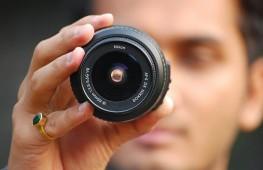 El ojo contra la cámara